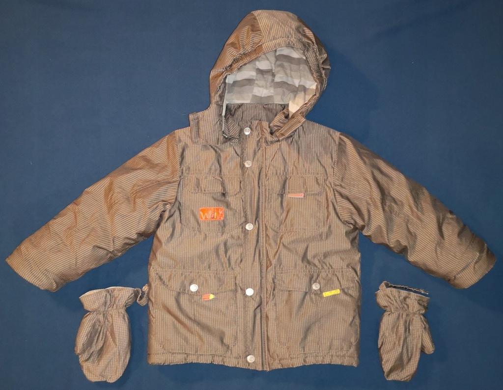 COCCODRILLO 104 cm kurtka zimowa rękawiczki