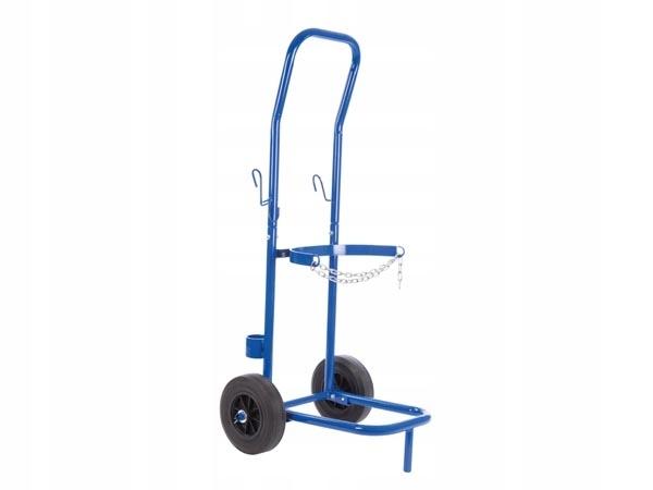 Wózek spawalniczy do przewozu butli z gazem