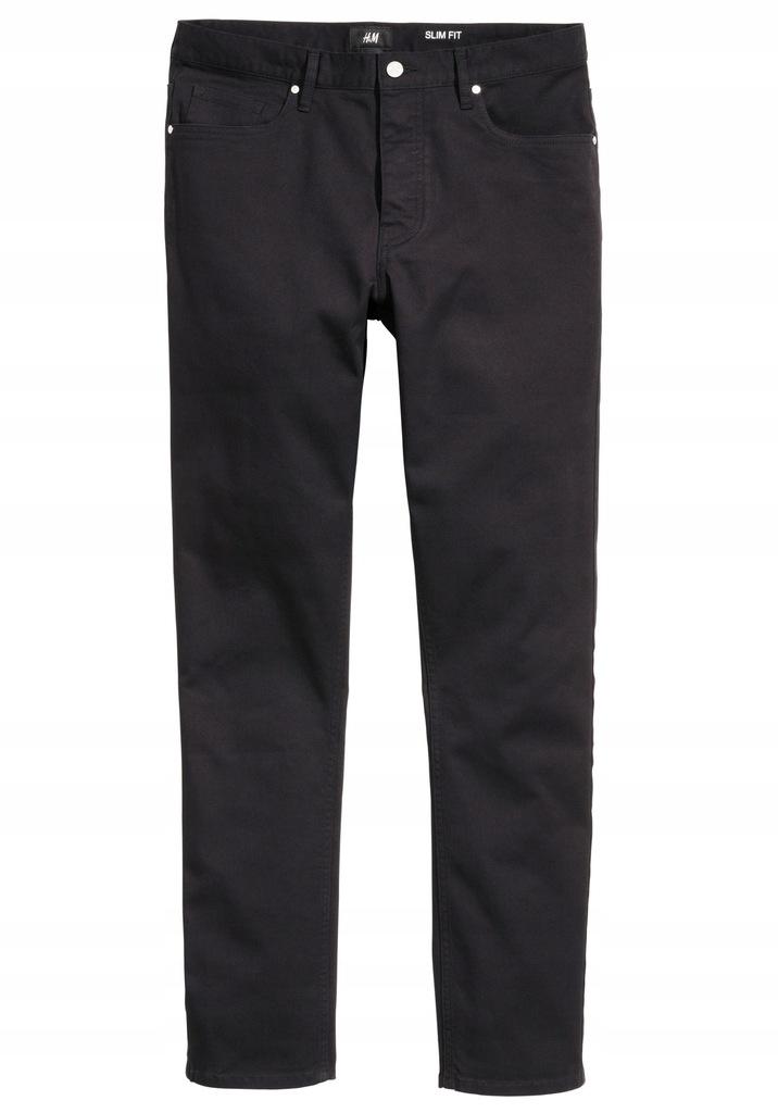 H&M Spodnie z diagonalu Slim fit rozm. 33