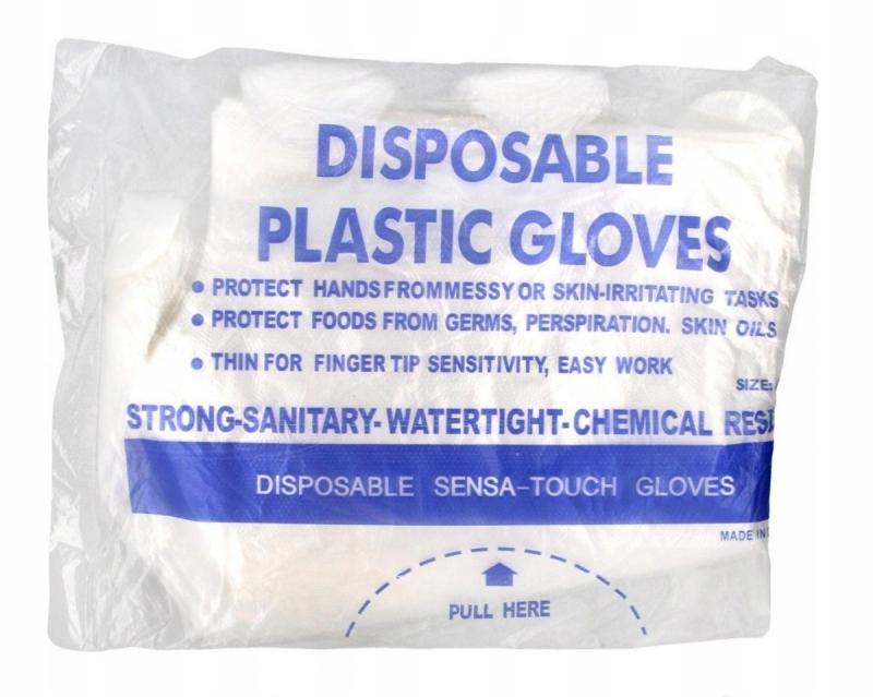 Rękawiczki ochronne jednorazowe foliowe 1 op.-100s
