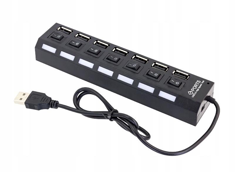 ULTRA SZYBKI HUB ROZDZIELACZ USB 2.0 PORTY x7 PRO