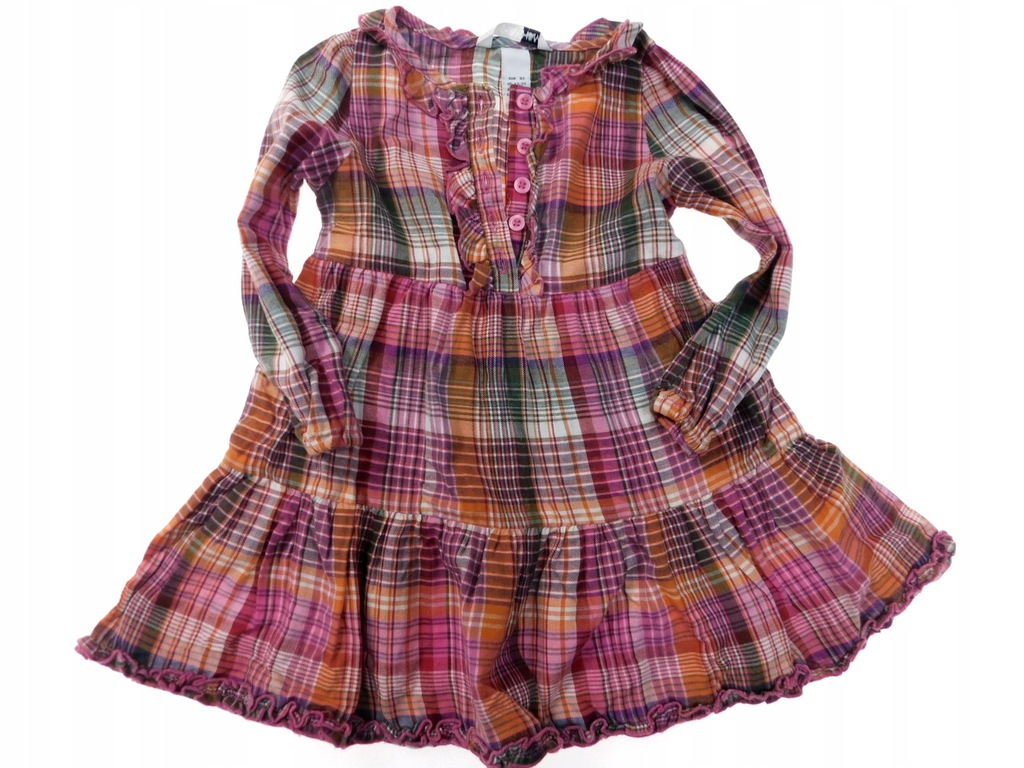 hm sukienka koszulowa krata _ 92