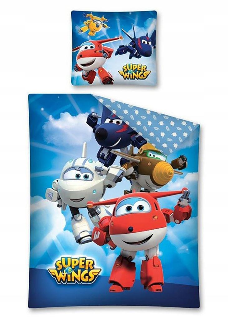 Pościel 160x200 2cz Bawełna Dziecięca Super Wings