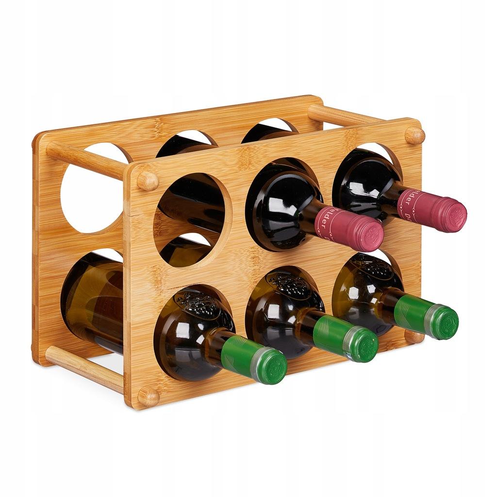 Stojak regał półka na wino 6 butelek