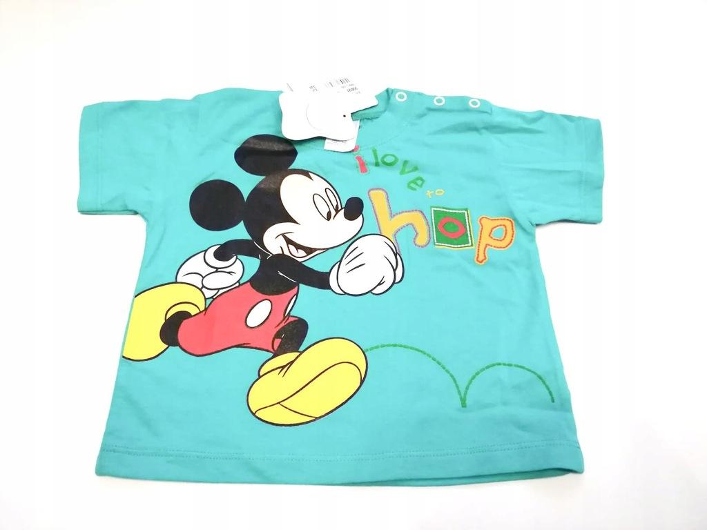 Bluzka dziecięca T-Shirt Mickey Disney Zielona 92