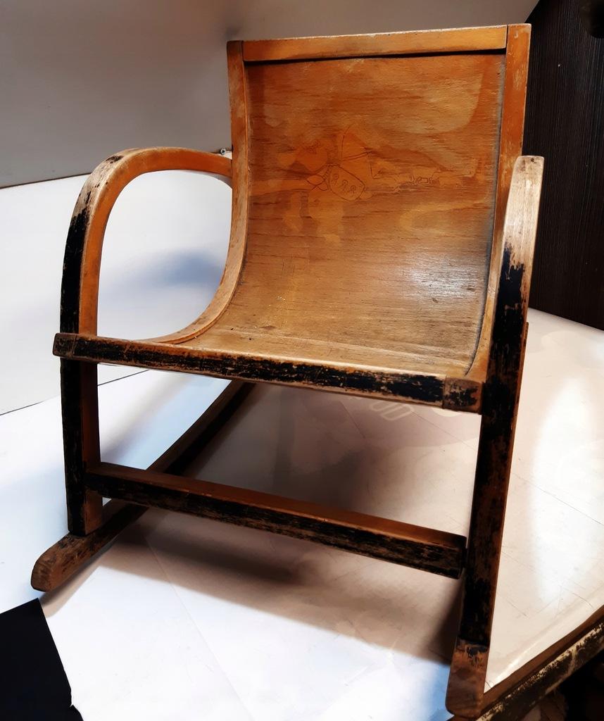 Stary fotelik bujany-przedszkolaka-unikat