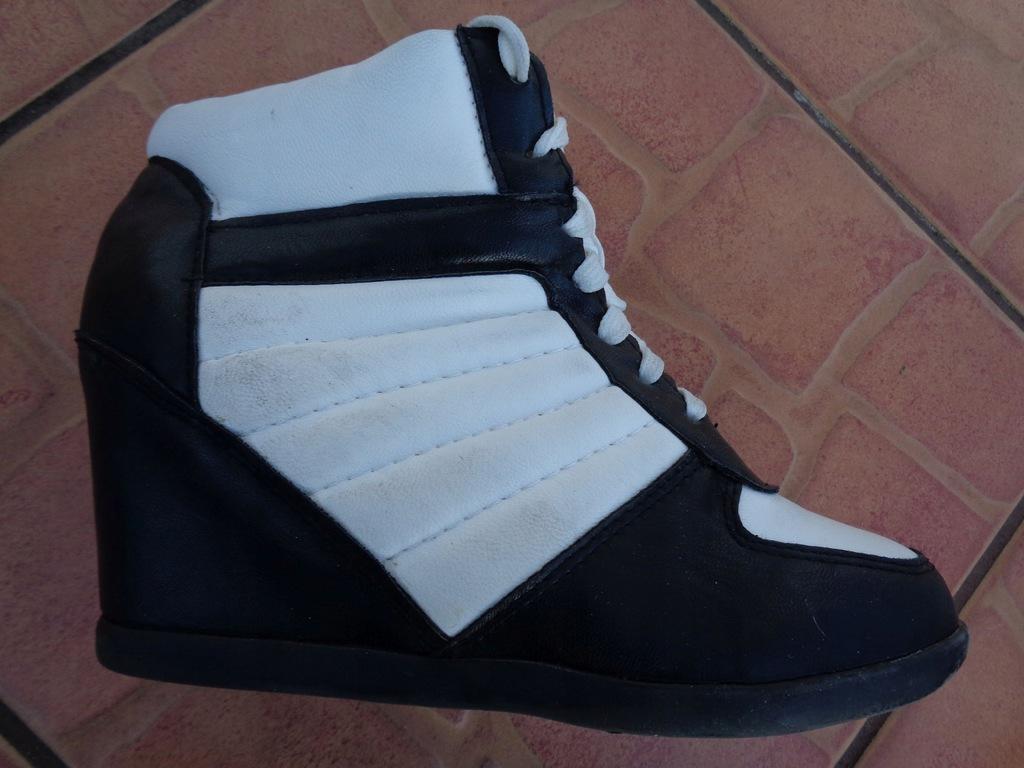 new look 38 BUTY SPORTOWE sneakersy koturny
