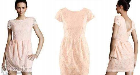 H&M oryginalna sukienka pudrowa 38