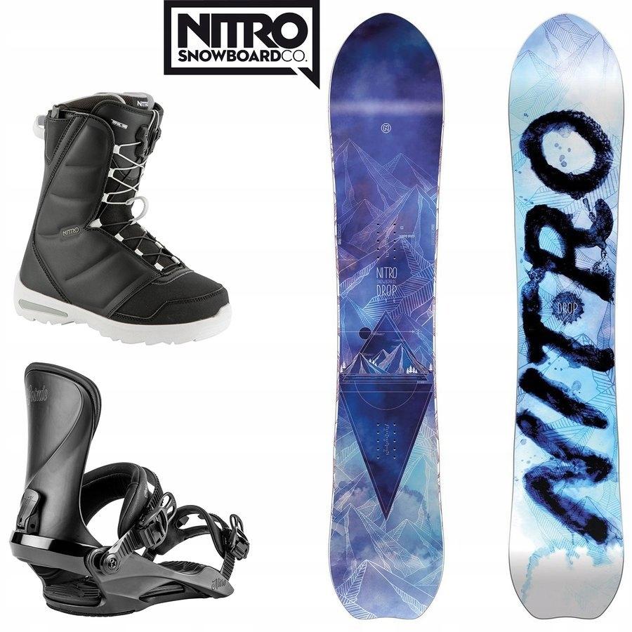 ZESTAW NITRO: Snowboard Drop + wiązania + buty