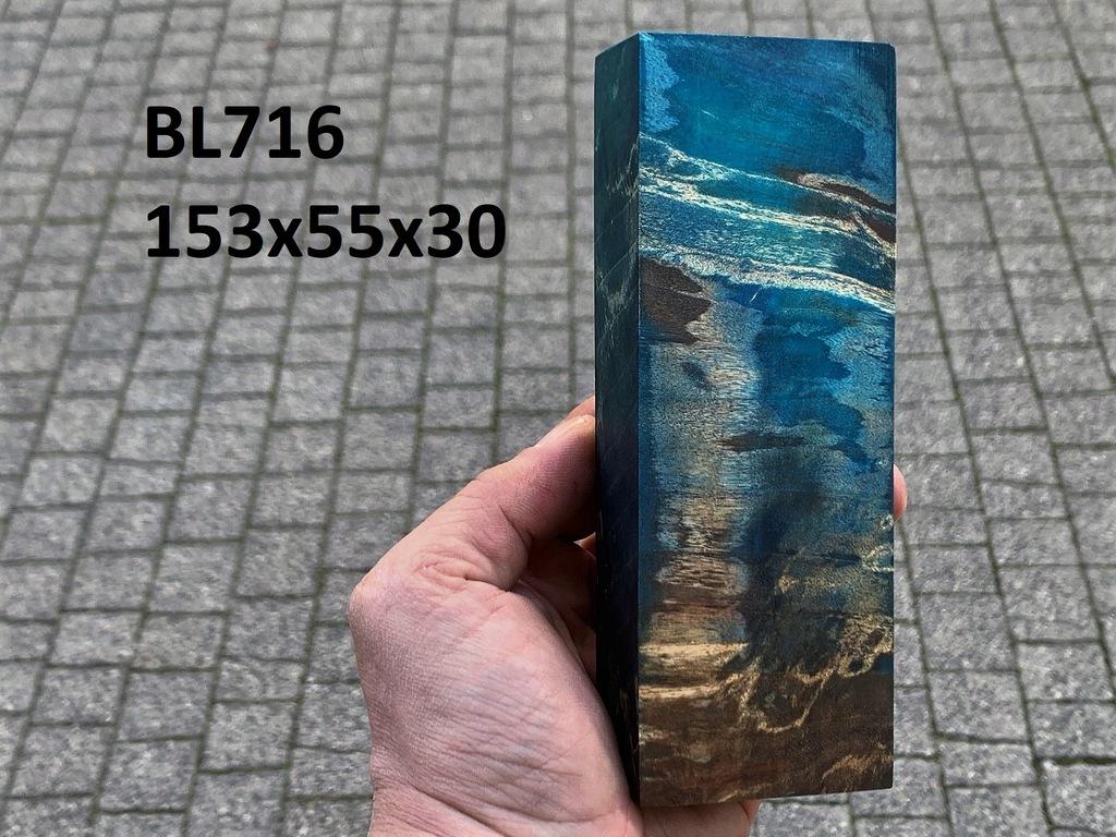Drewno stabilizowane bloczek knifemaking BL716