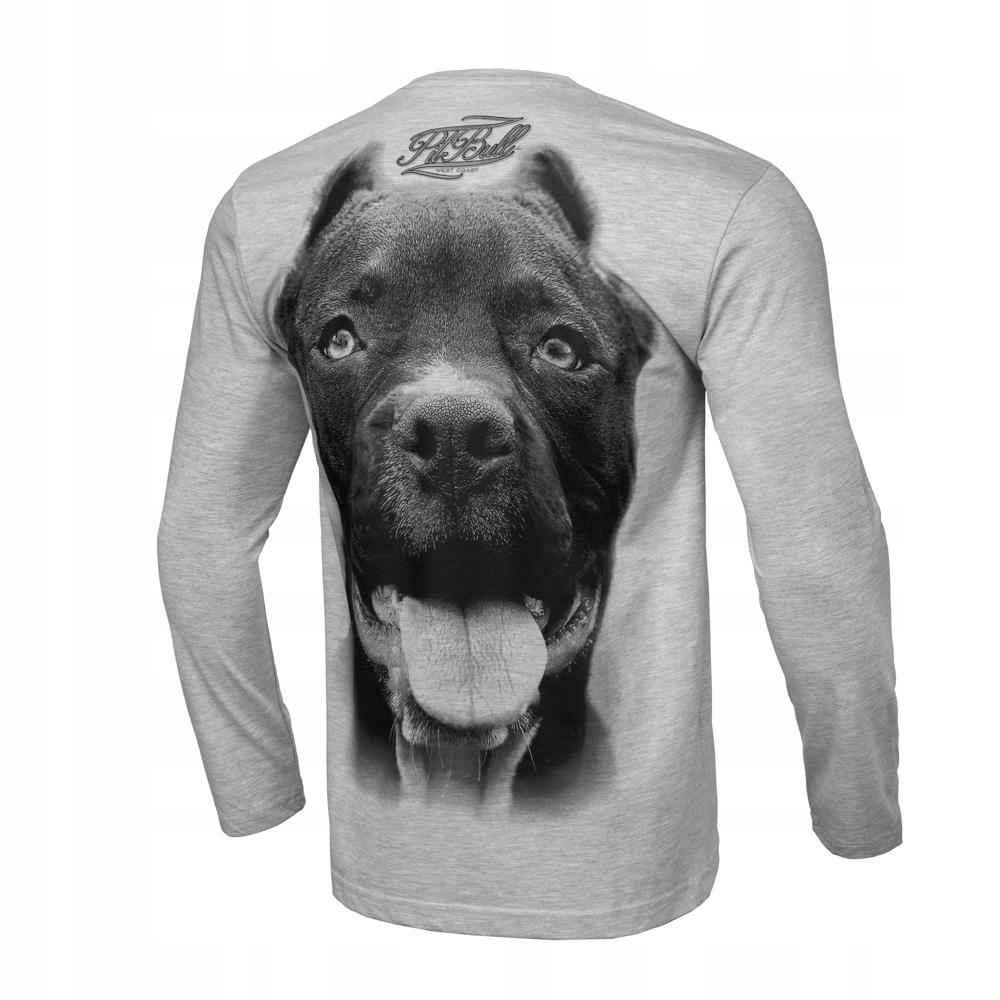 Koszulka z dł. ręk. Pit Bull Pitbull IR Szara XXL