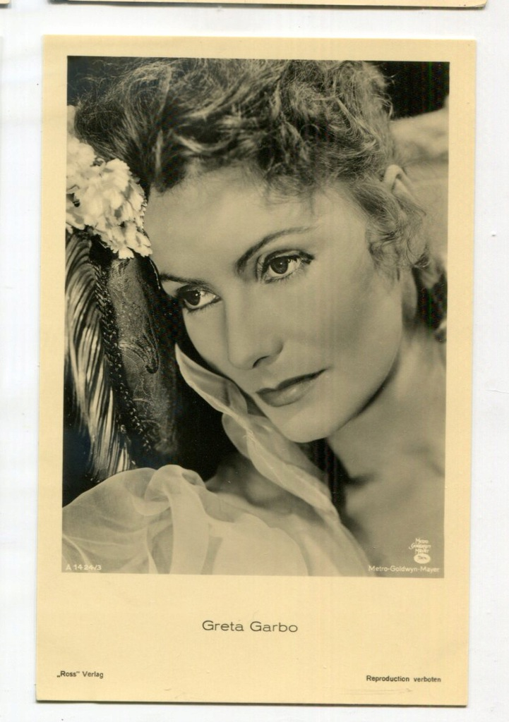 Greta Garbo Kino Film Aktorka Foto Pocztówka 50