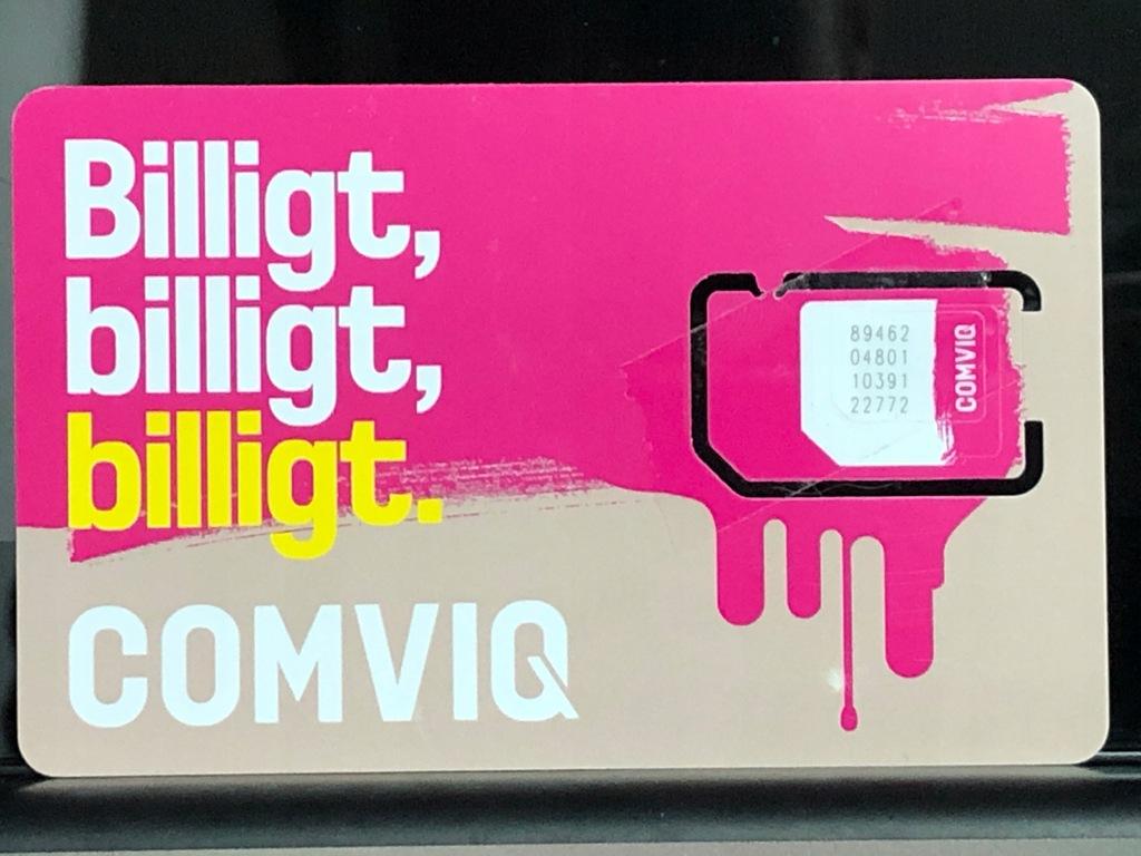 Comviq SE +46 Starter Szwecja Prepaid SIM Card
