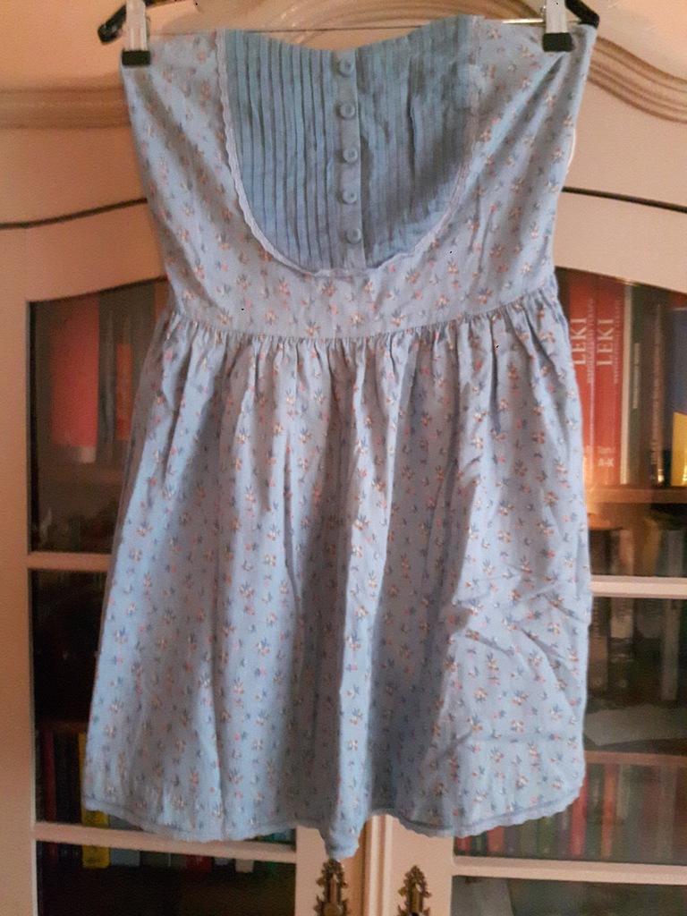 Sukienka Zara TRF bawełniana, gumka na plecach r L