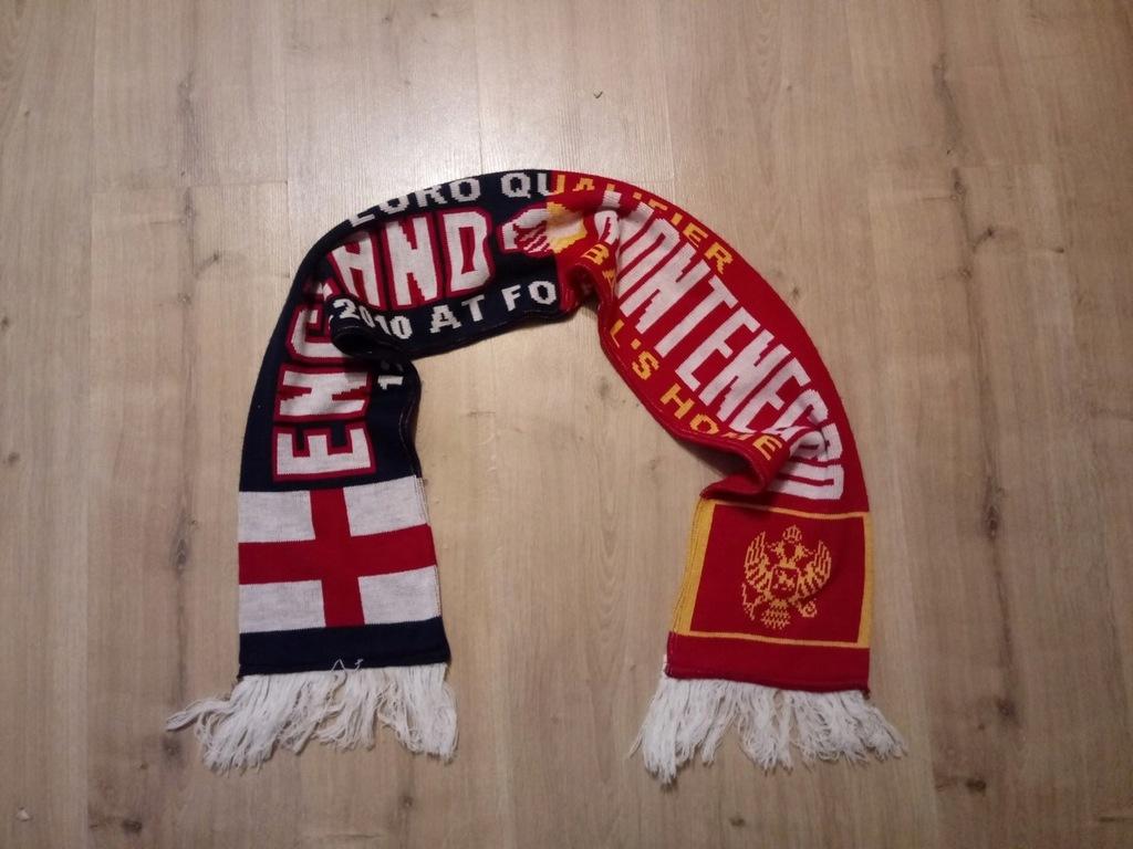 Szalik kolekcjonerski Anglia vs Czarnogóra Euro