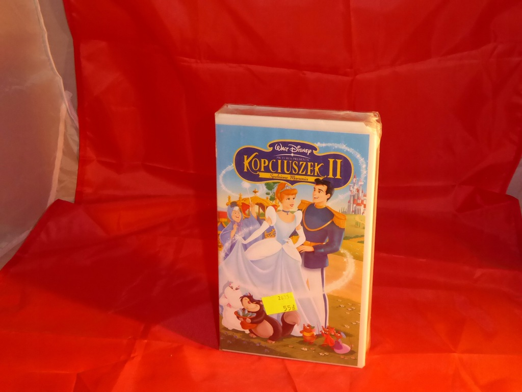 nowy film video vhs bajka disney kopciuszek 2