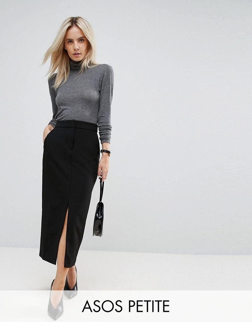 31 ASOS Spódnica elegancka czarna maxi xs 34