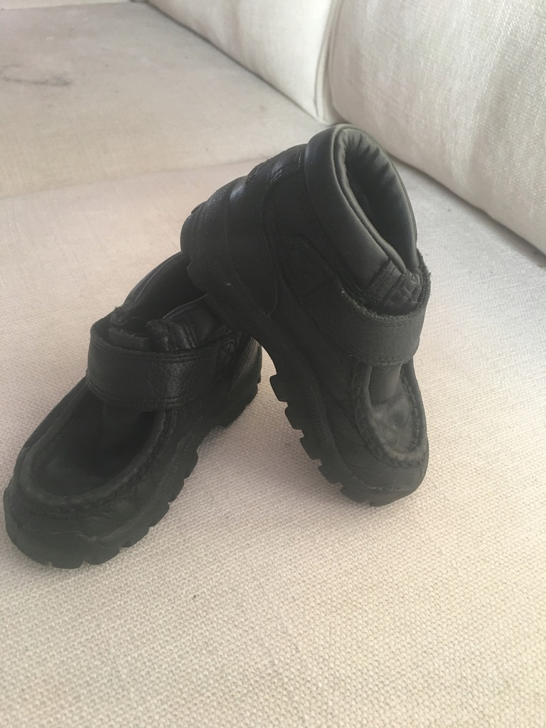 Buty, Adidas, skórzane, dziecięce, 23