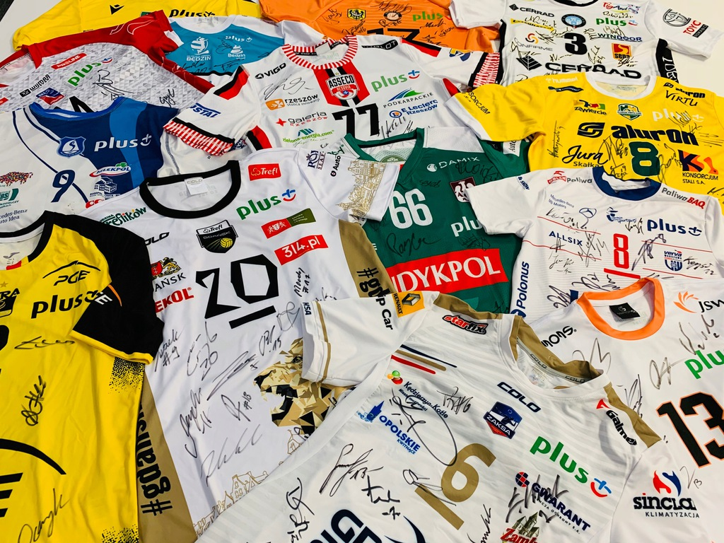 Liga Siatkówki Mężczyzn - zestaw 14 koszulek