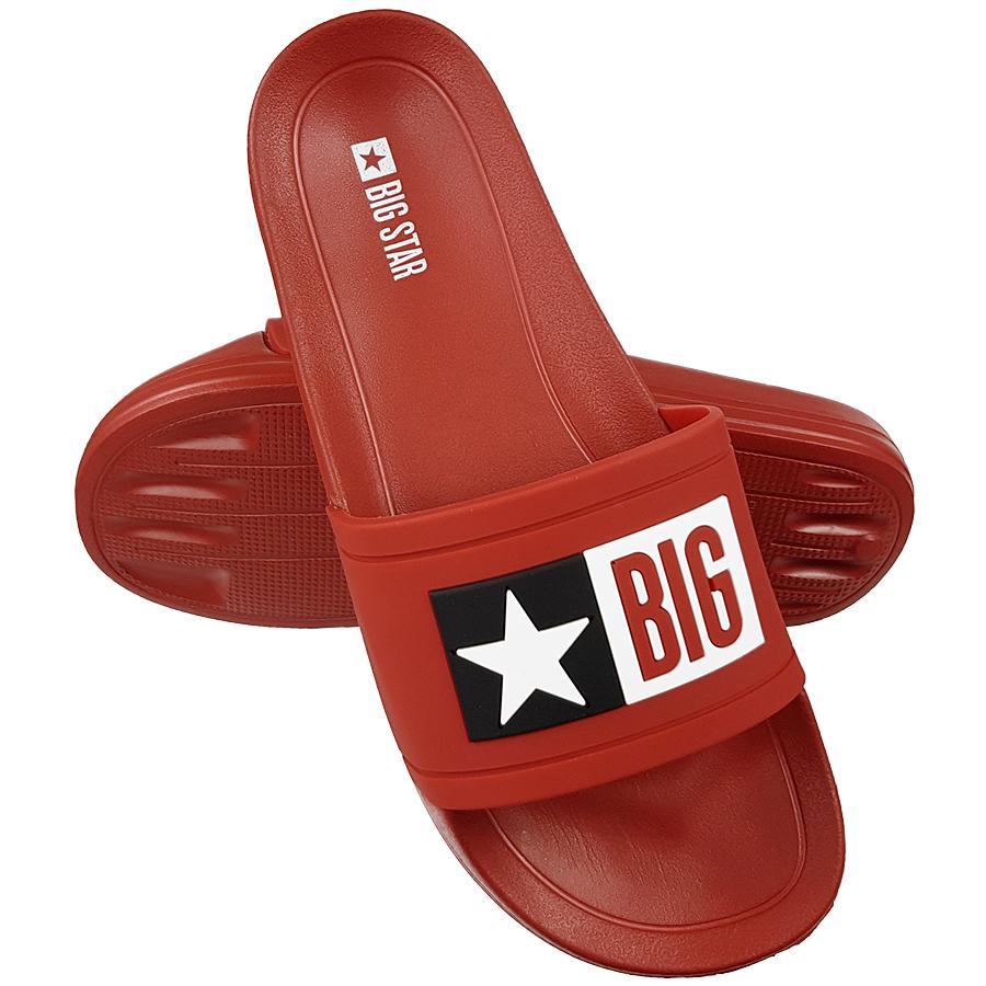 Klapki Big Star męskie czerwone DD174702 43