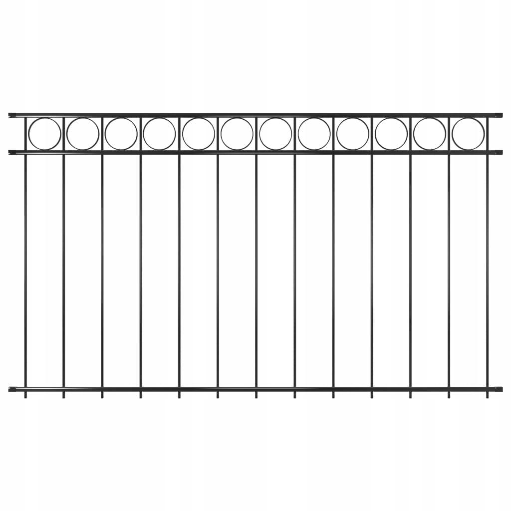 Panel ogrodzeniowy, stalowy, 1,96 x 1,2 m, czarny