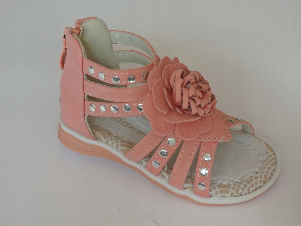 Sandał dziewczęcy rzymki jasny róż R 23 Badoxx