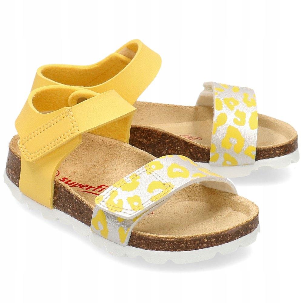 Superfit Żółte Sandały Dziecięce 6-00123-60 R.33