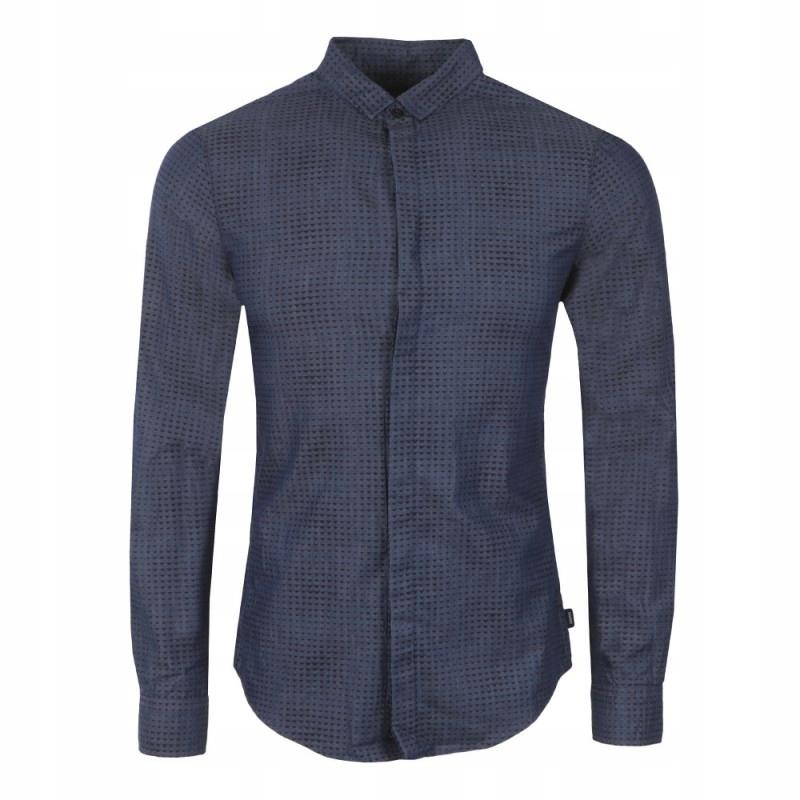 ARMANI JEANS markowa męska koszula BLUE NEW %%% XL