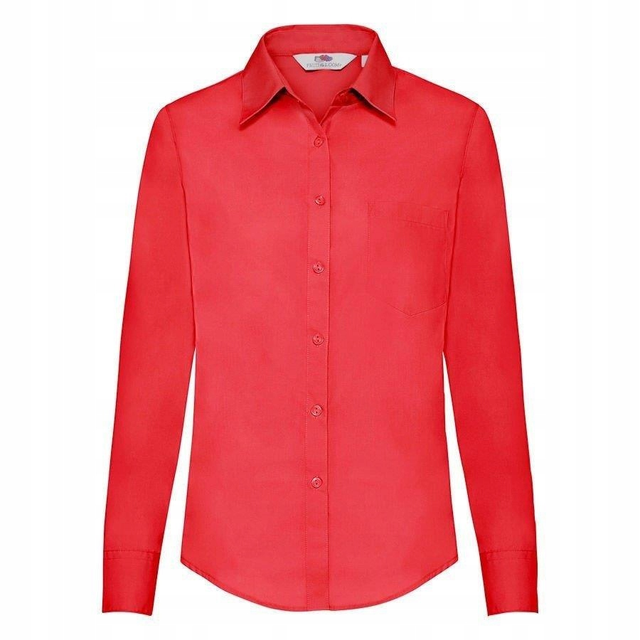 DAMSKA koszula FRUIT POPLIN LONG czerwona XS