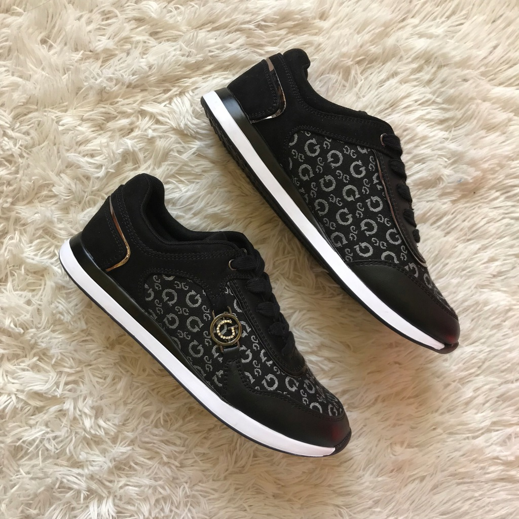 Nowe oryginalne buty sneakersy GUESS Cleo black 40
