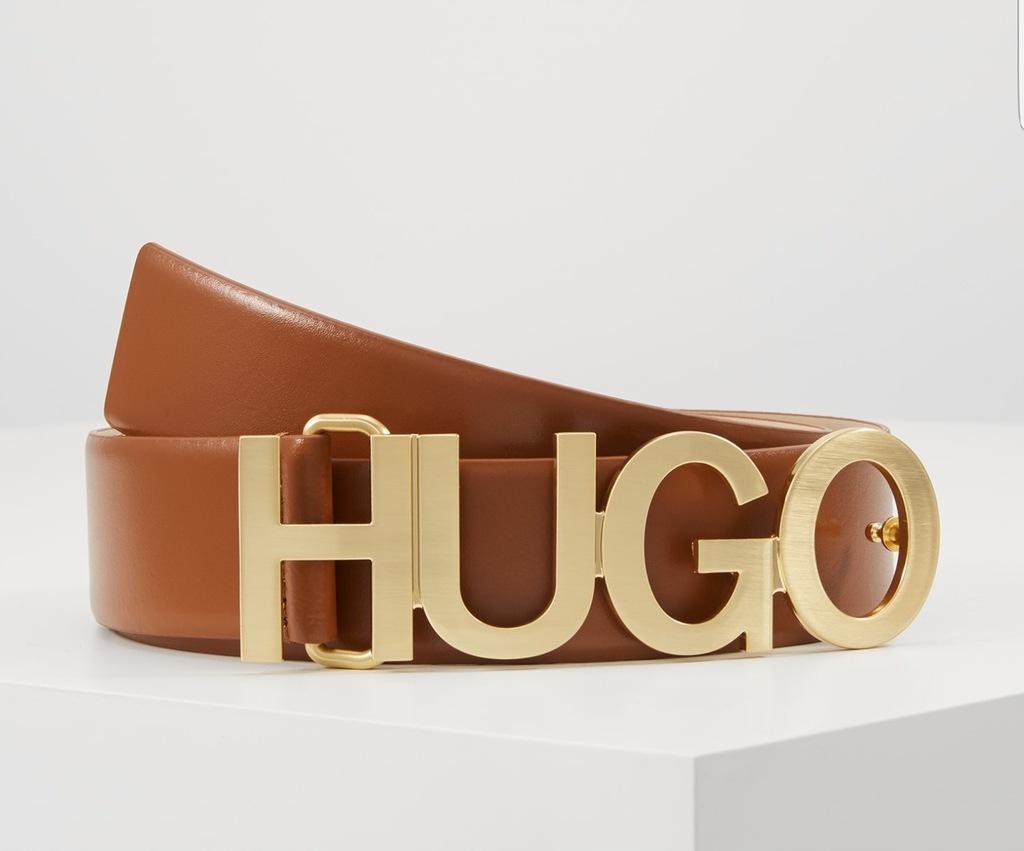 Hugo Boss pasek Zula belt brązowy klamra 85