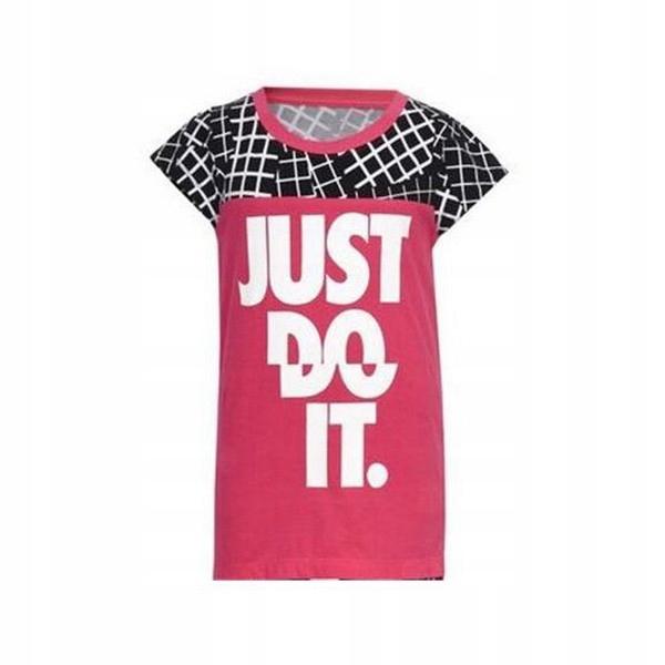 Koszulka z krótkim rękawem Nike 848-A72 Różowy