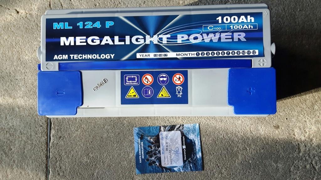 akumulator MEGALIGHT Power 12V 100Ah - nowy
