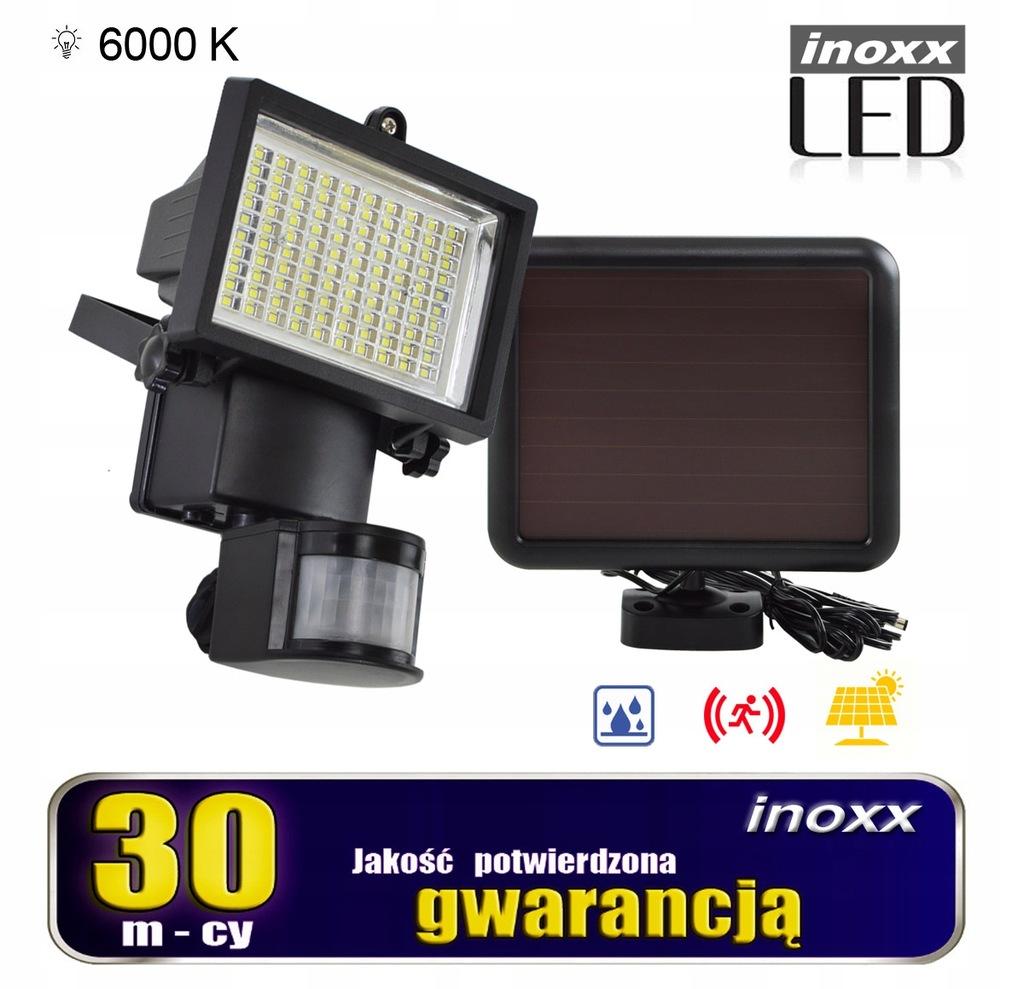 Lampa solarna naświetlacz led 100 diod smd z czujn