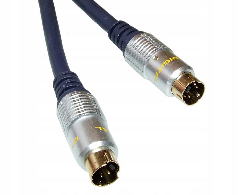 Kabel przewód SVHS wtyk - wtyk 1,5m VITALCO WYPRZE
