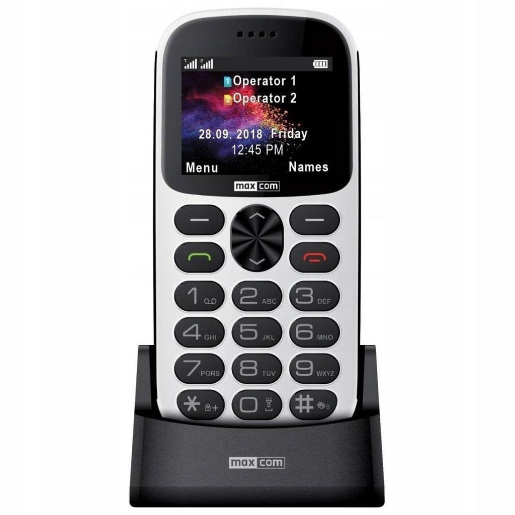 Telefon komórkowy MAXCOM MM471 biały