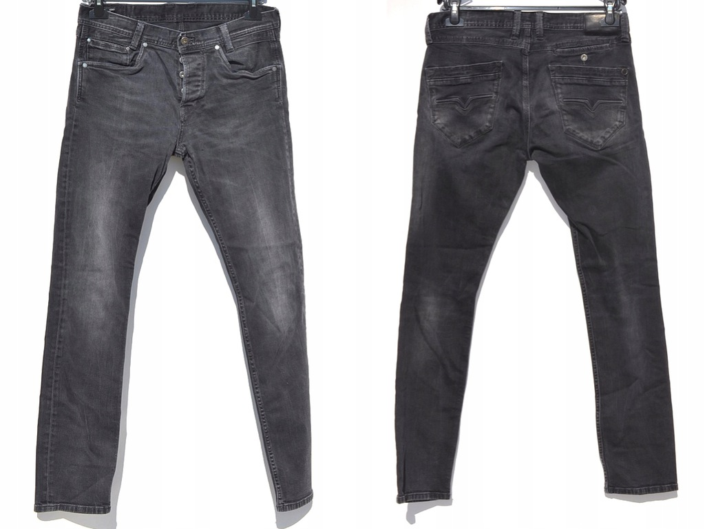 Pepe Jeans - Szare Jeansy Slim Fit W33/L34