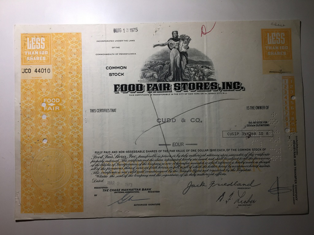FOOD FAIR STORES, INC