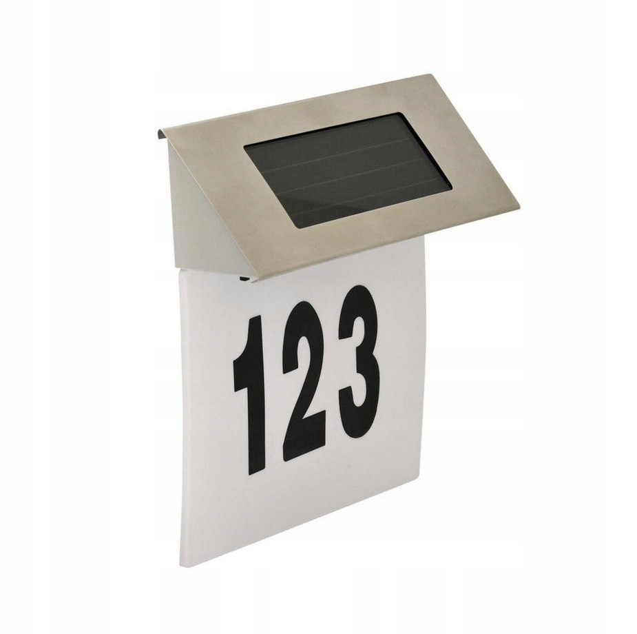 Kinkiet solarny NUMER DOMU czujnik zmierzchu LED f