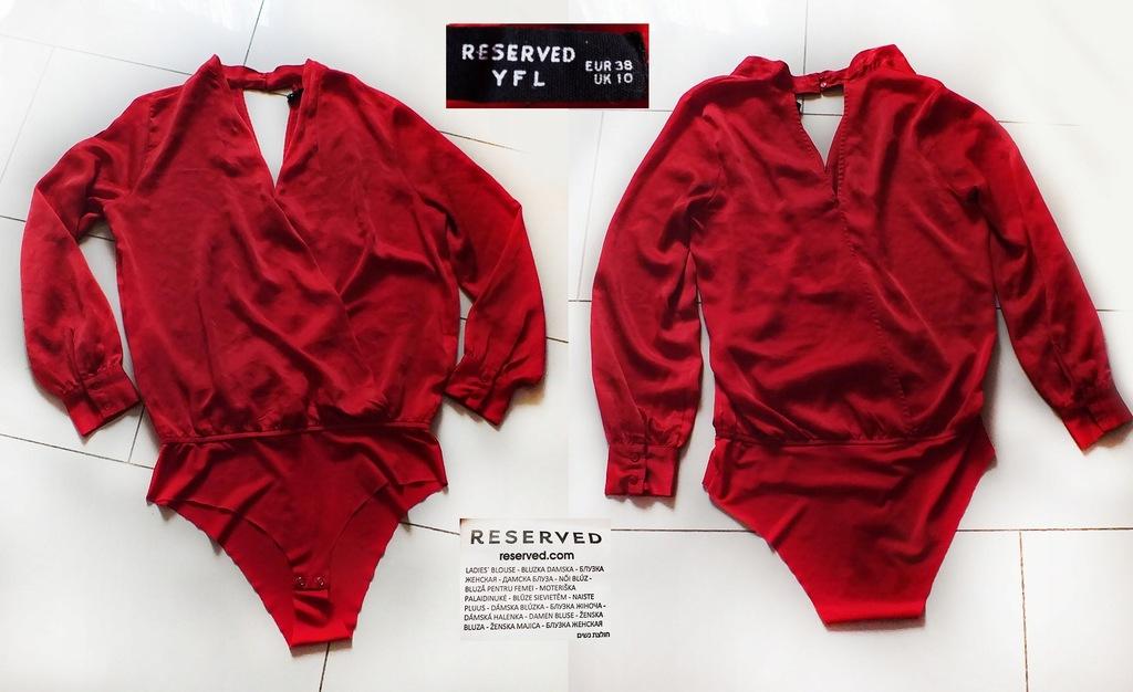 RESERVED yfl śliczne wizytowe body w czerwieni 38