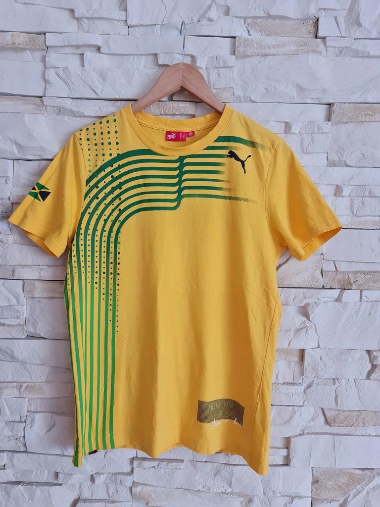 Puma bawełniana koszulka S idealna