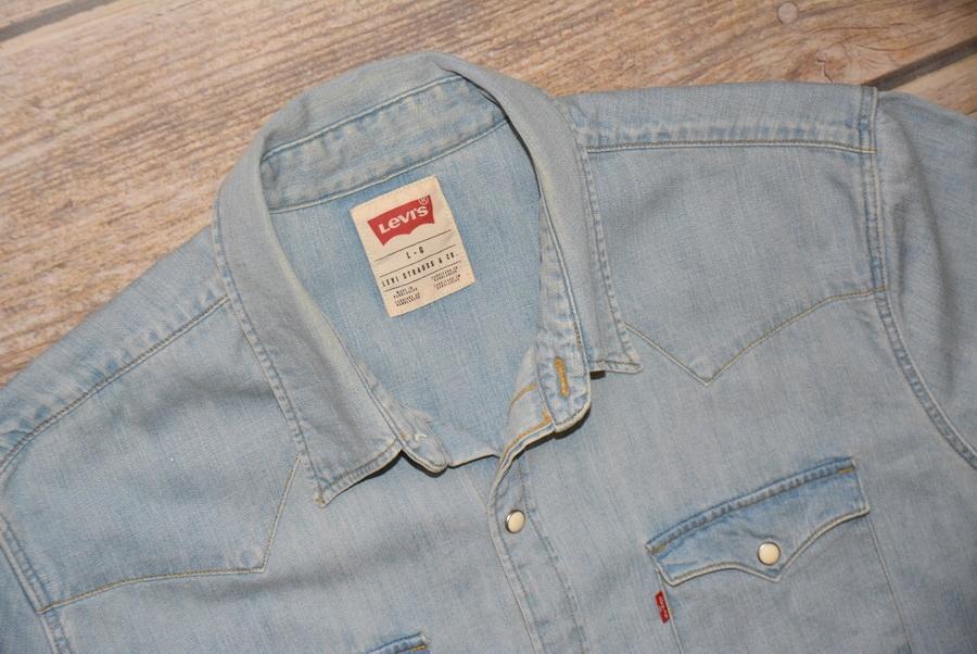 LEVI'S _ jeansowa - krótki rękaw _ L