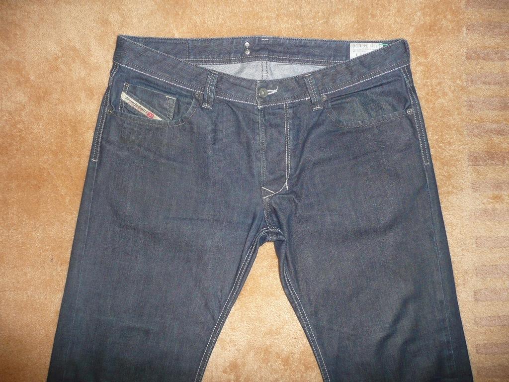 Spodnie dżinsy DIESEL W34/L30=47/103,5cm jeansy