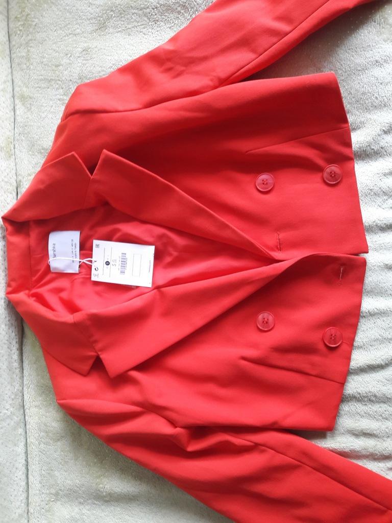 Żakiet damski czerwony Bershka (S)