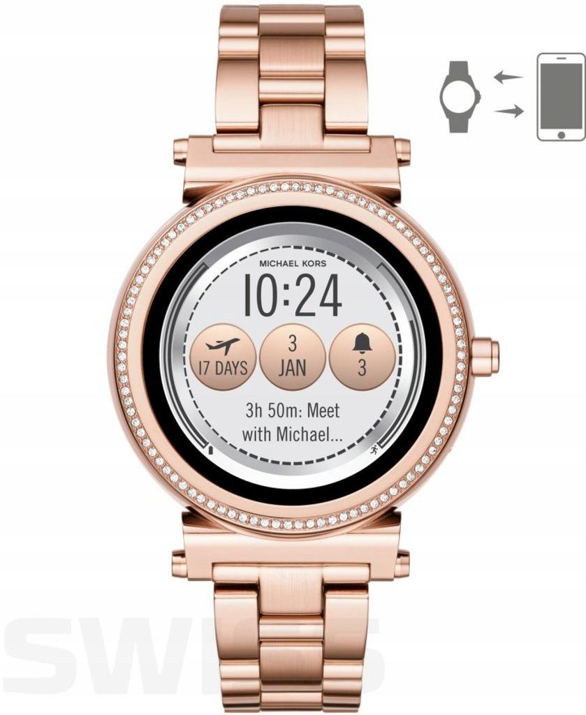 Zegarek Michael Kors Smartwatch Sofie Rose Gold