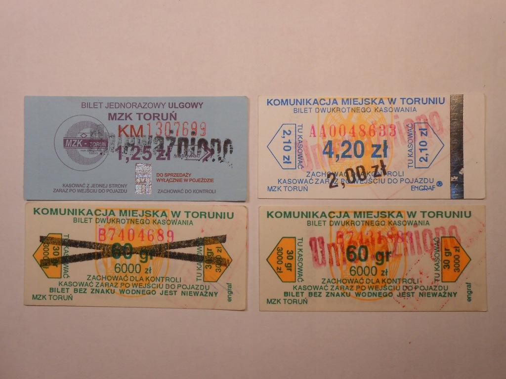 stare ciekawe bilety rzadki , lot 4 sztuki