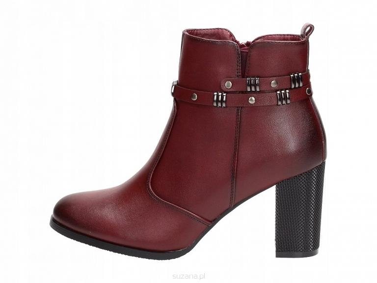 Sergio Leone Bordowe Sneakersy czerwone | Botki damskie w