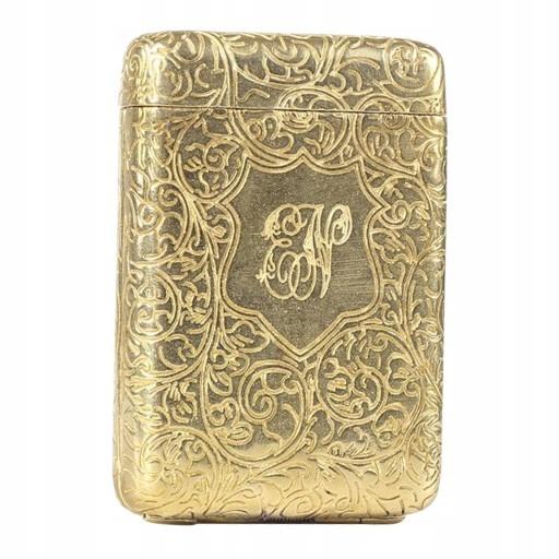 Miedziane etui do przechowywania Złoty