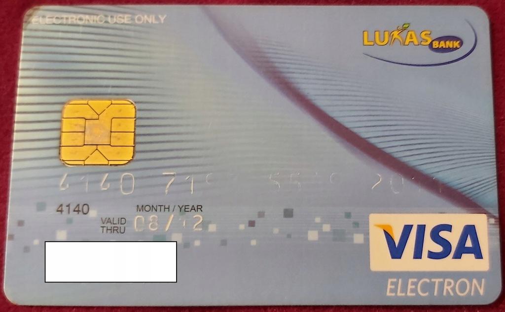Karta VISA ELECTRON LUKAS Bank