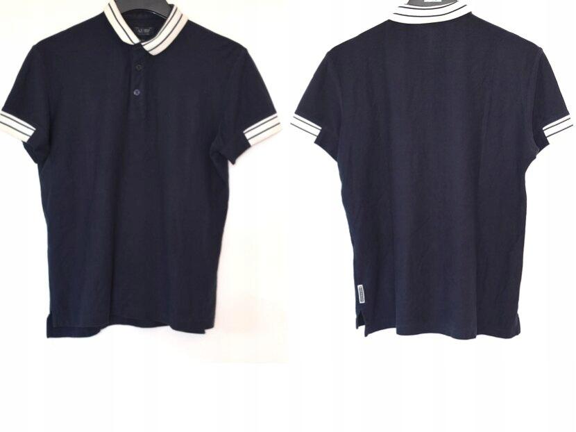 Armani Jeans - Granatowa Koszulka Polo M